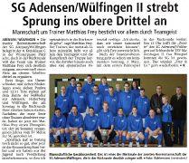 SG Adensen/Wülfingen ll strebt Sprung ins obere Drittel an