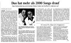 Duo hat mehr als 2000 Songs drauf
